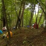 森の中での研修会