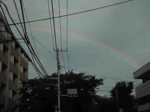 総会後にかかっていた虹!
