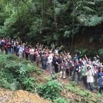 天然林でのワークショップ。60名以上の方がご参加され、とても盛況でした!