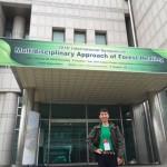 韓国における森林の保健休養についての国際シンポジュウム 会場にて
