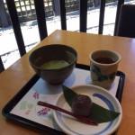 葛餅と抹茶