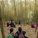 ワークショップの一風景。今回の台湾の研修会では、各地域にある竹林を活用しました。