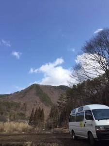 信州の山村の春に出かけました