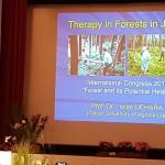 国際会議での上原理事長の基調講演の様子(ドイツ Usedam)